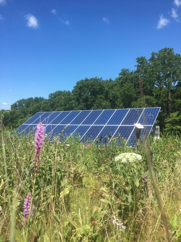 Photo of residential 22 panel ground mounted solar array