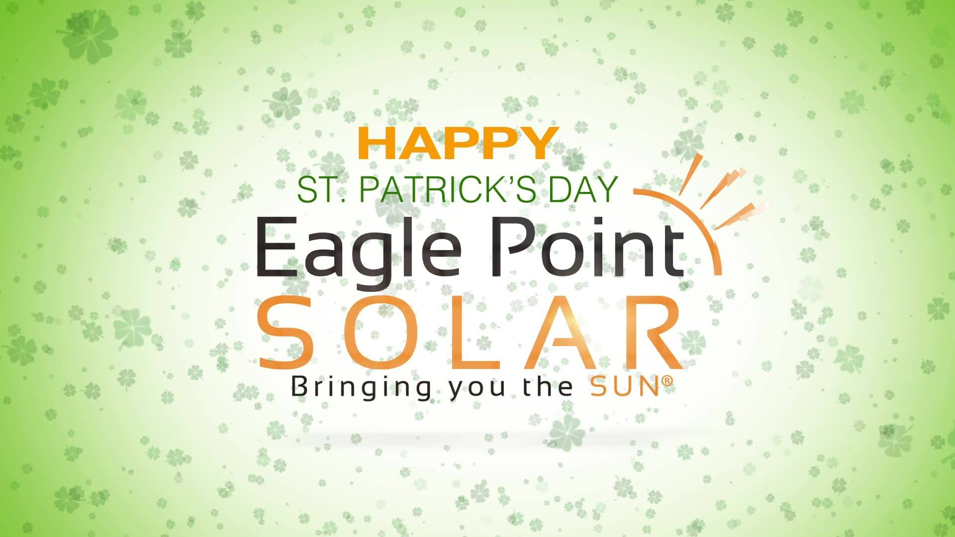 Graphic for St. Patrick's day with Eagle Point Solar