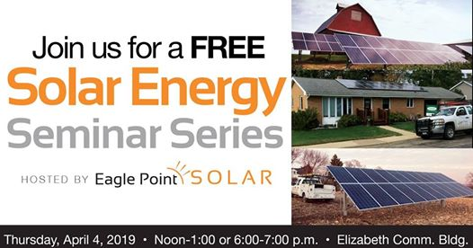 Graphic for solar energy Lunch & Learn in Elizabeth, IL