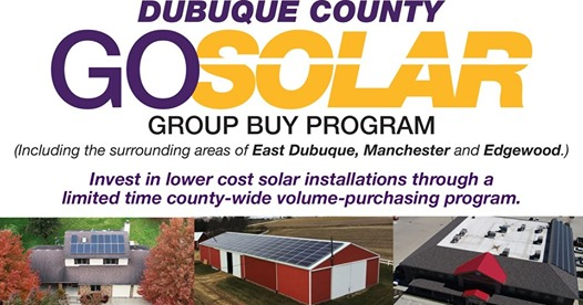 Graphic of Dubuque County Go Solar Group Buy Program