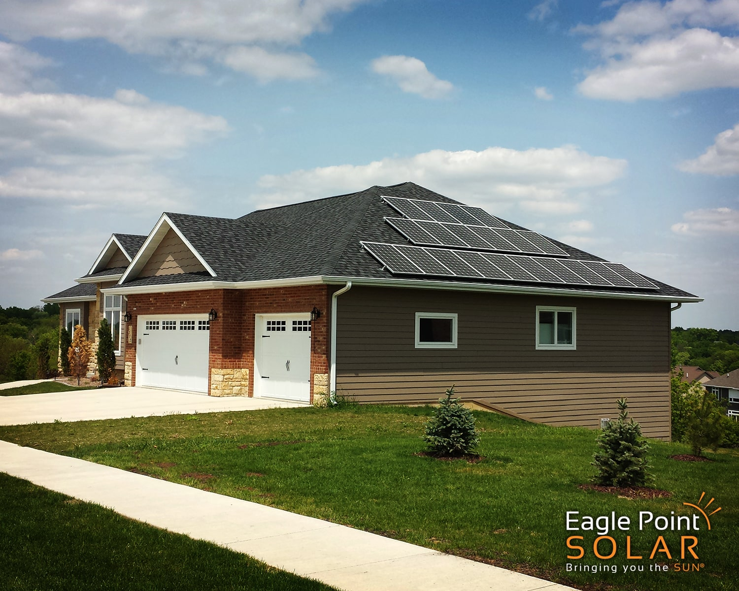 Photo of residential roof mounted solar array on Silvia