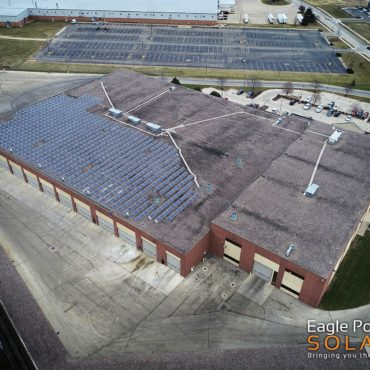 Photo of City of Dubuque roof mounted solar array