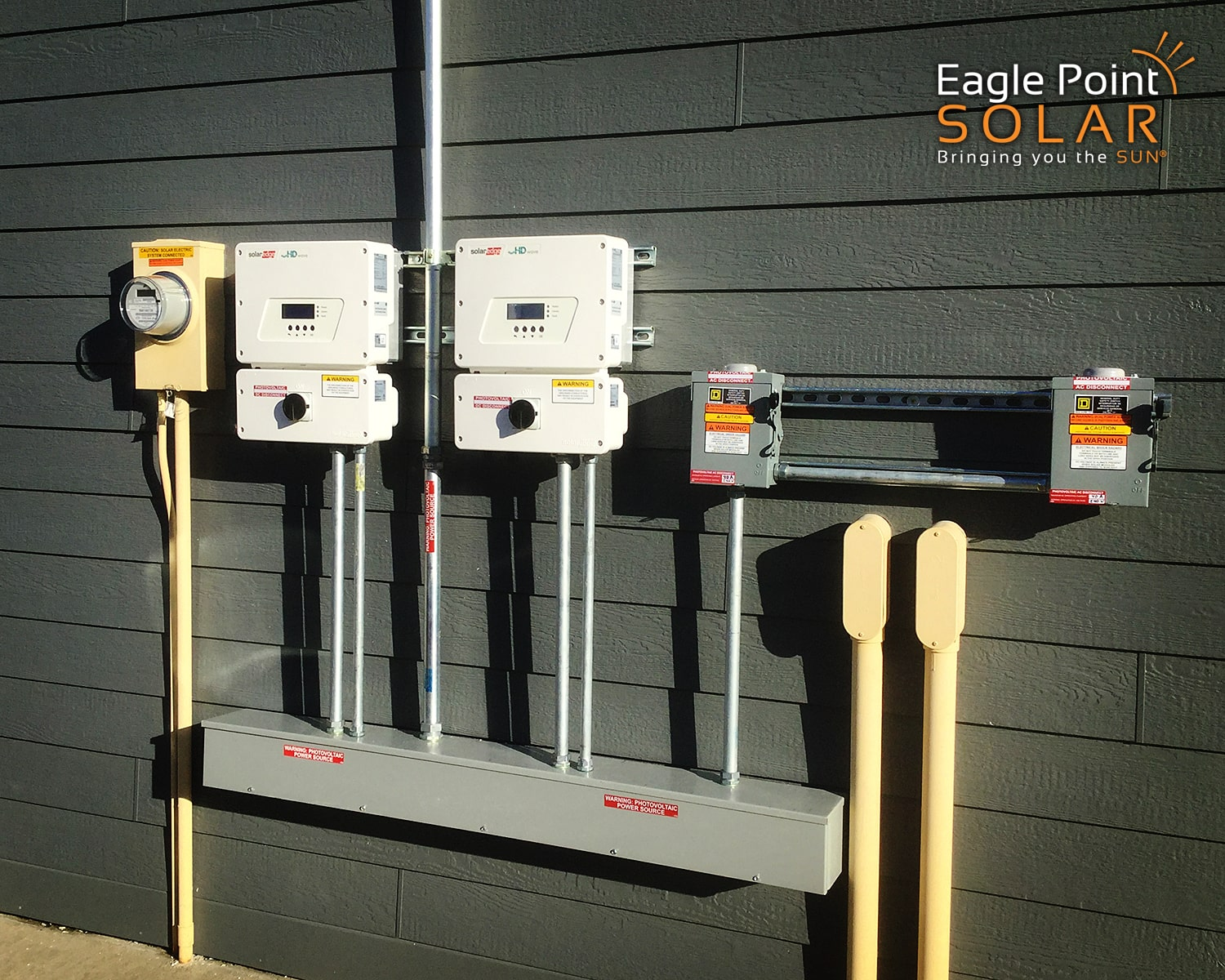 Photo of solar electrical components