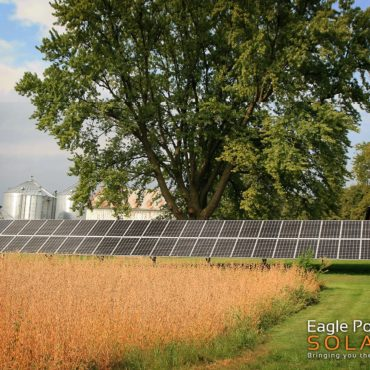 Photo of a agricultural ground mounted solar array