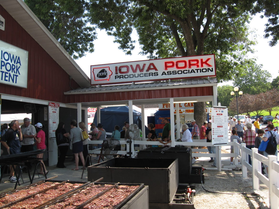 Photo of Iowa Pork Producers Association food stand