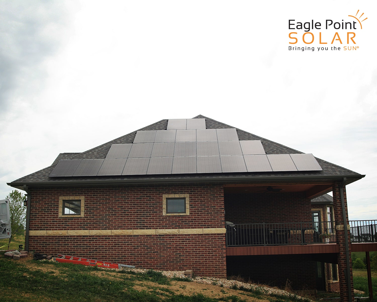 Photo of residential roof mounted solar array Koestler