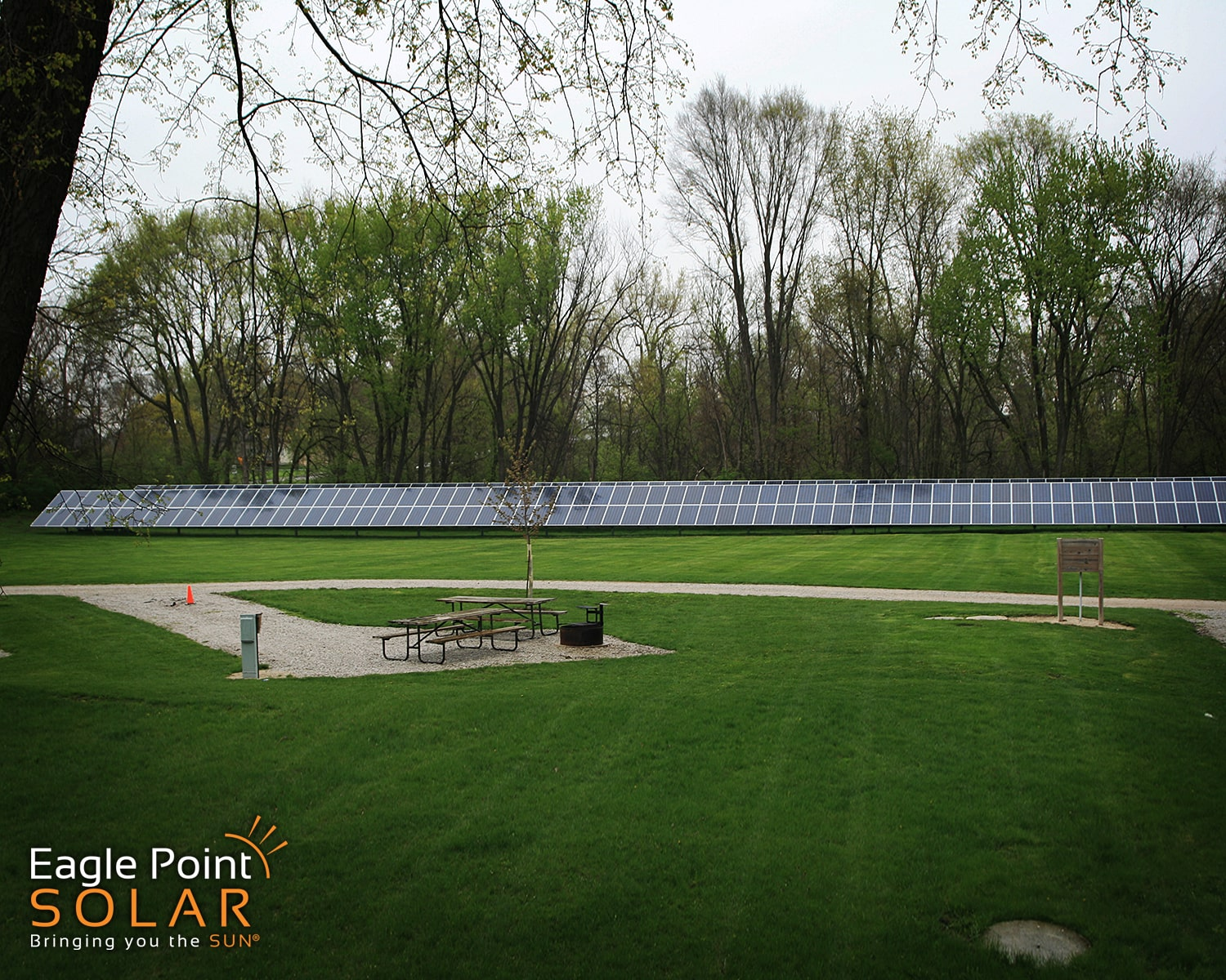 Photo of Little Wall Lake ground mounted solar array