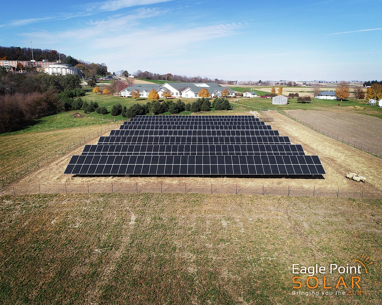 Photo of Sinsinawa ground mounted solar array