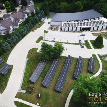 Photo of Unitarian roof and ground mounted solar array