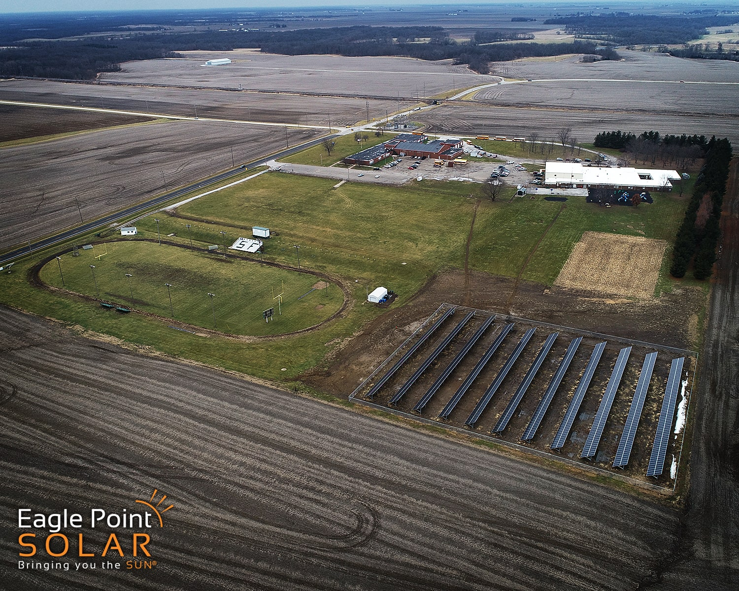 Photo of a ground mounted solar array on V.I.T