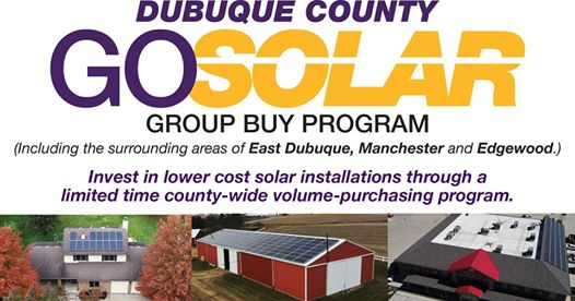 Graphic for the Dubuque County Go Solar Group Buy Program