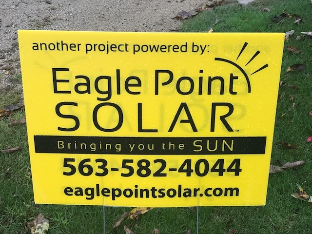 Photo of Eagle Point Solar yard sign