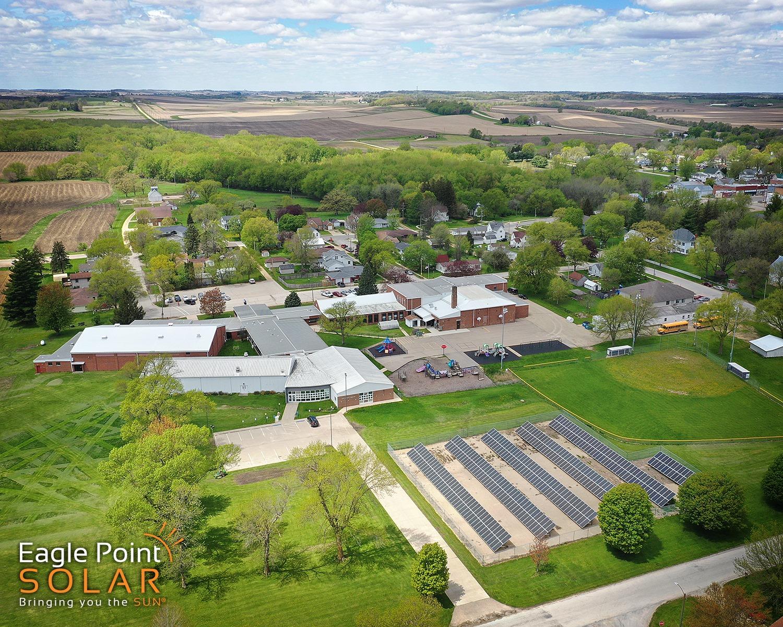 Photo of academic ground mounted solar array