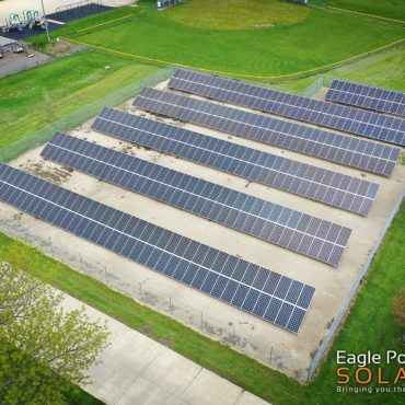 Photo of Olin School ground mounted solar array
