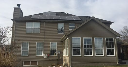 Photo of residential roof top solar array