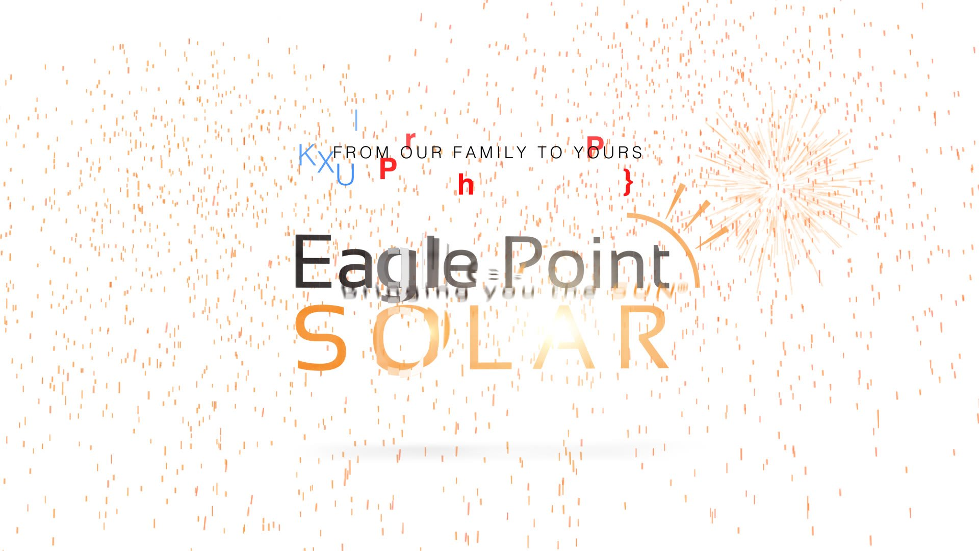 Graphic for the 4th of July with Eagle Point Solar Logo