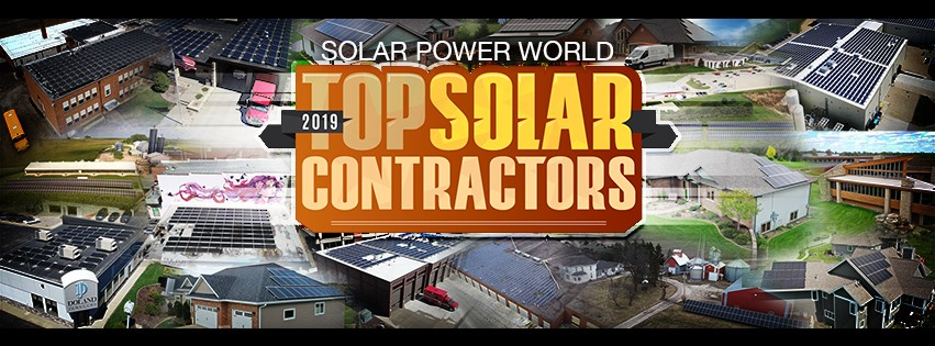 Photo graphic for 2019 Solar Power World Top Solar Contractor