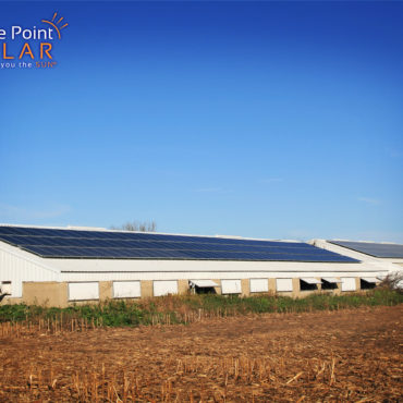 Photo of Bishop Farm roof mounted solar array
