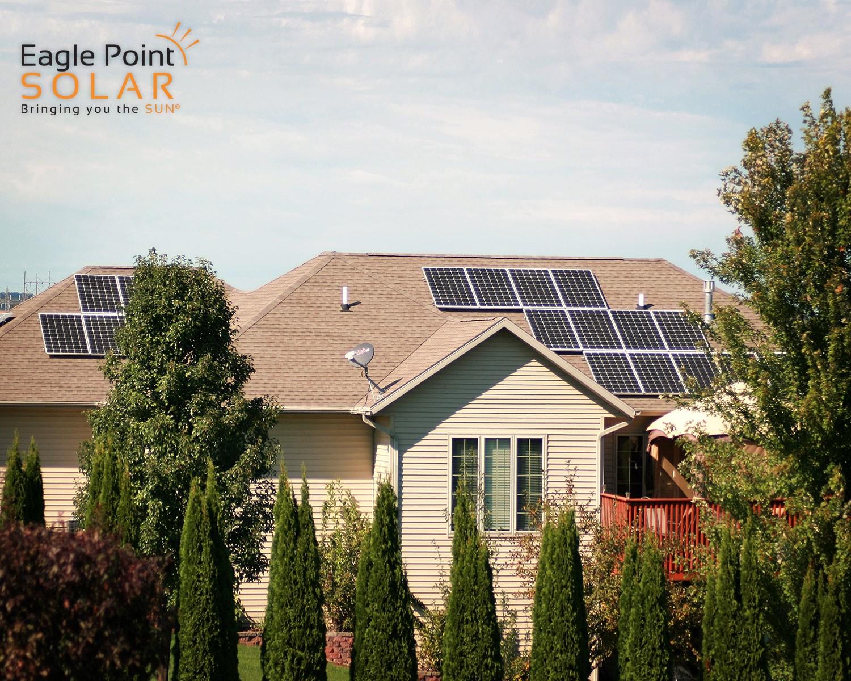Solar installation on residential roof