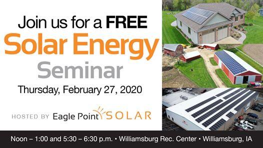 February 2020 Solar Energy Seminar in Williamsburg, Iowa