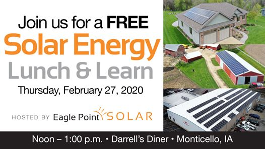 February 2020 Solar Energy Lunch & Learn in Monticello, IA