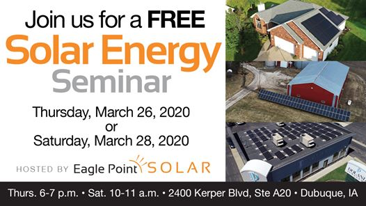 March 2020 Solar Energy Seminar in Dubuque, IA
