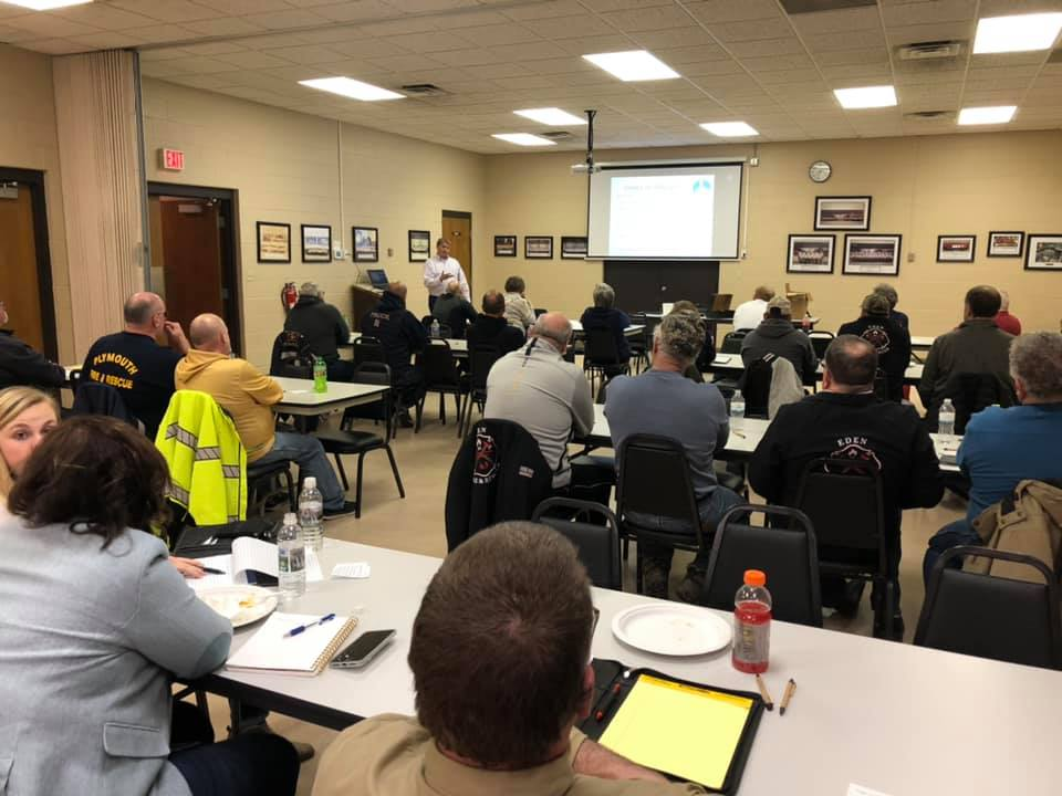 Thank you to Steve George of Eagle Point Solar for conducting Firefighter Solar Power Safety Awareness training to Area 6 members tonight at the Eden Fire Department.