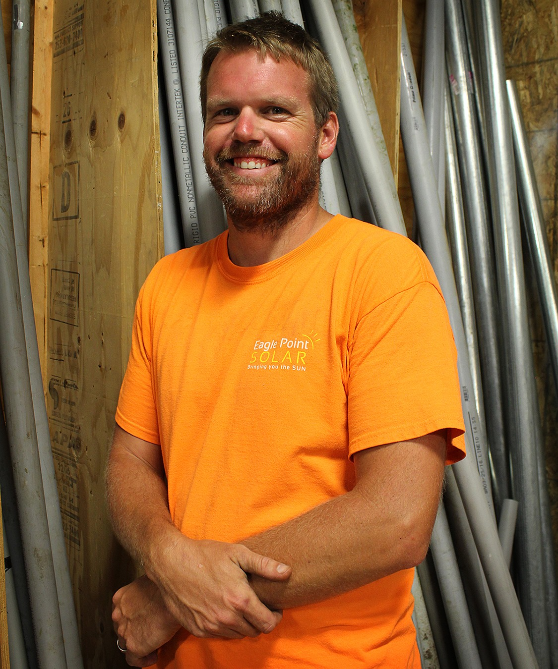 Matt is responsible for the electrical work associated with connecting a solar array to a utility meter