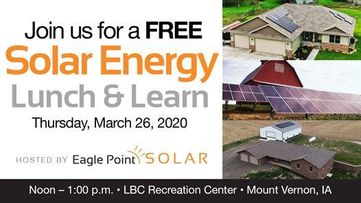 Solar Energy Lunch & Learn in Mount Vernon, Iowa